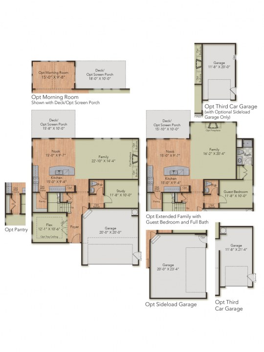 Chatham Floor Plan At Granite Falls Estates Hhhunt Homes